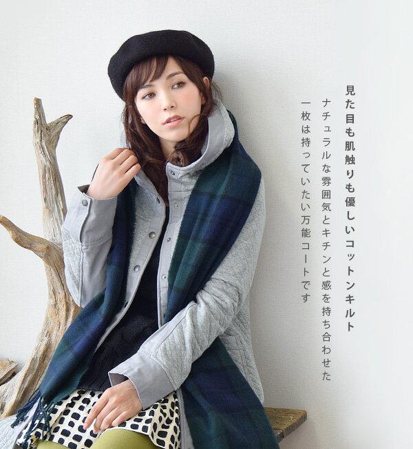 e-zakka 女款長袖連帽大衣外套-日本必買 日本樂天代購(6630) 1