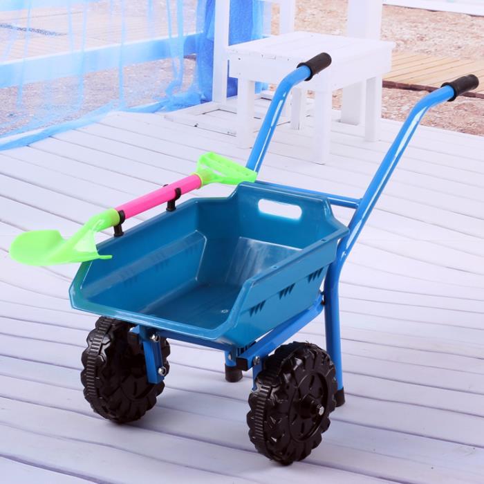 爆款兒童沙灘寶寶玩具手推車加大加厚雙輪單輪推土車小孩玩沙玩具 1