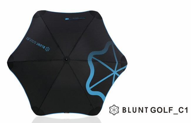 [ BLUNT ] GOLD_C1 保蘭特抗強風 超輕量高爾夫球傘 (碳纖維骨架) 風格藍