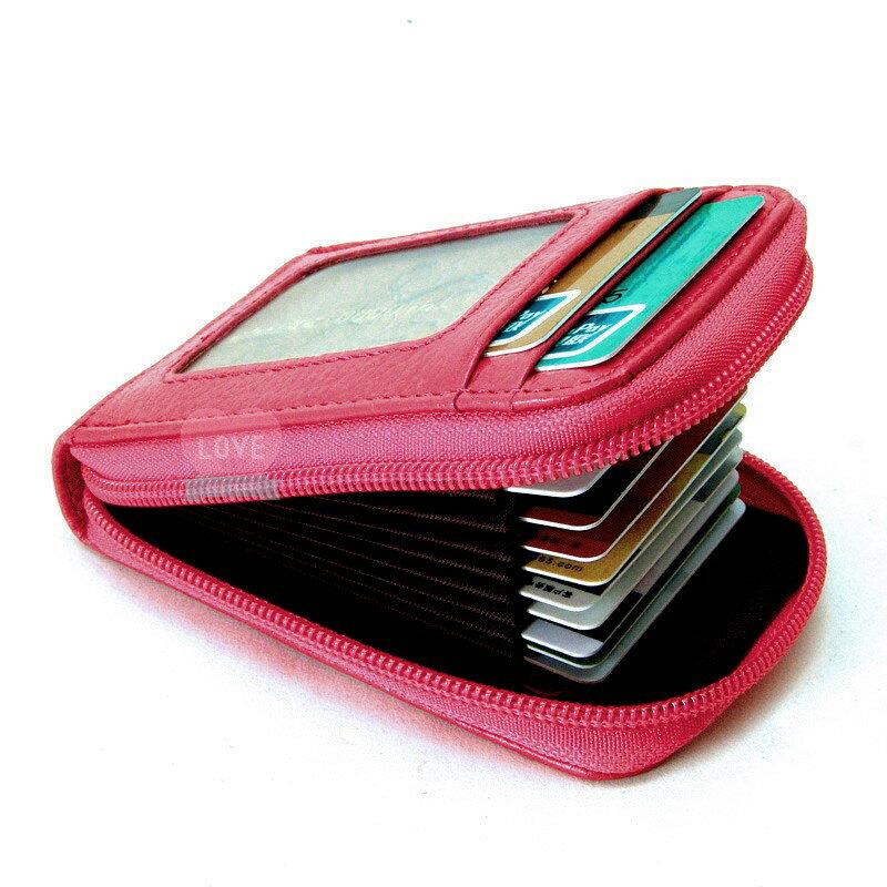 【喜番屋】真皮頭層牛皮男女通用風琴11卡位拉鏈卡片夾名片包信用卡銀行卡金融卡名片包名片夾卡包卡套皮夾錢包男夾女夾【CB09】 1