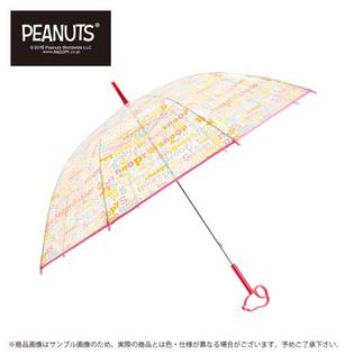 日本代購預購 用傘紙箱運送 snoopy 史努比 透明雨傘 長傘 直立式 雨傘手把立體造型 778-978