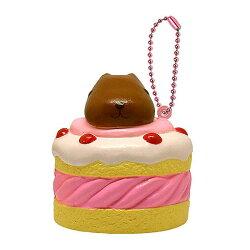 【日本進口正版】水豚君 kapibarasan 甜點 捏捏吊飾 美食 吊飾 擺飾 捏捏樂 軟軟 - 611635