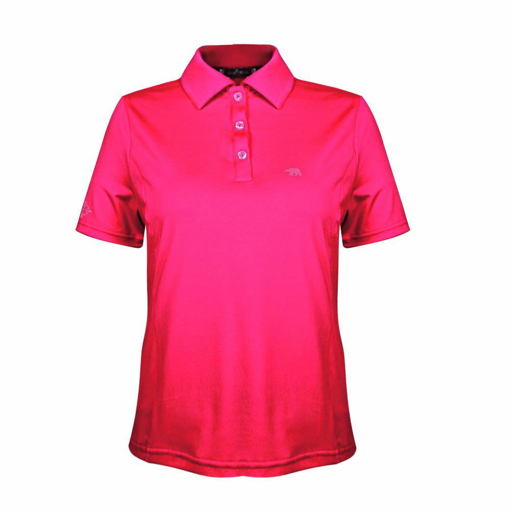 【POLAR BEAR】女吸濕排汗快乾彈性短袖開釦POLO衫 1