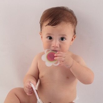【安琪兒】【mombella】小花咬水果固齒器2入組 2