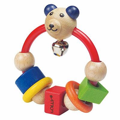 LOLLY 木製玩具-微笑熊搖鈴【悅兒園婦幼生活館】 - 限時優惠好康折扣