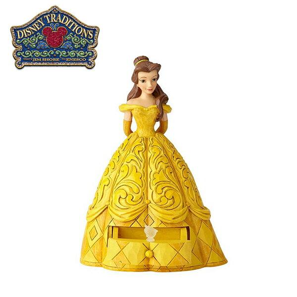 【正版授權】Enesco貝兒公主抽屜盒塑像公仔精品雕塑美女與野獸Belle迪士尼Disney-959476