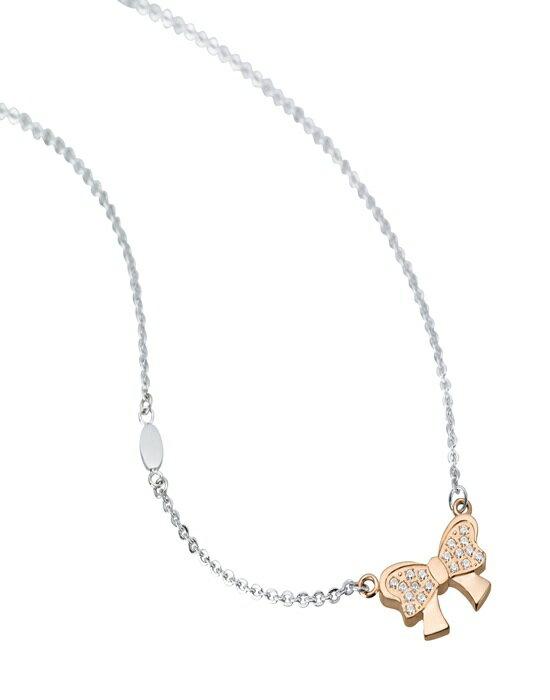 《Esther》幸福白鋼/鍍鈦金項鍊SN672-玫瑰金