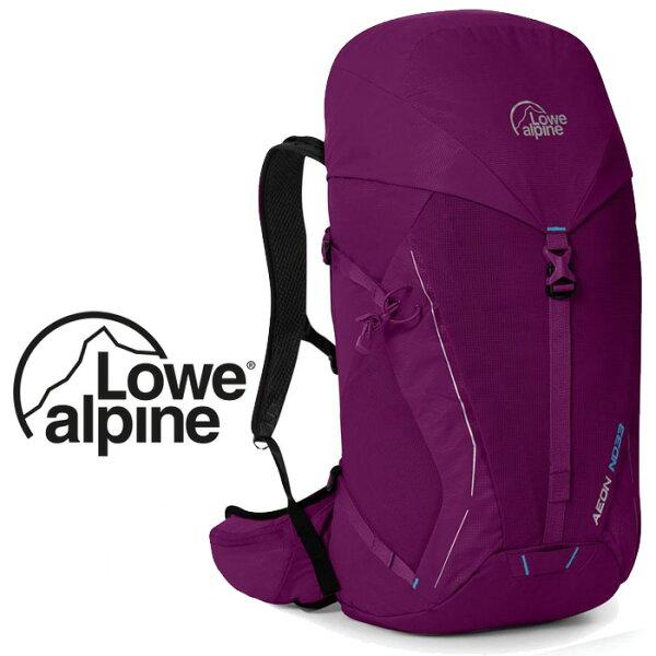 【LoweAlpine英國】AeonND多功能登山背包-鮮紅葡萄/運動背包健行背包/FTE-69【容量33L】