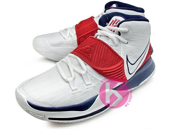 2020 Kyrie Irving 最新代言鞋款 NIKE KYRIE 6 VI EP TEM USA 白深藍紅 美國隊 奧運 前掌 ZOOM TURBO AIR 氣墊 (BQ4631-102) 0820 1