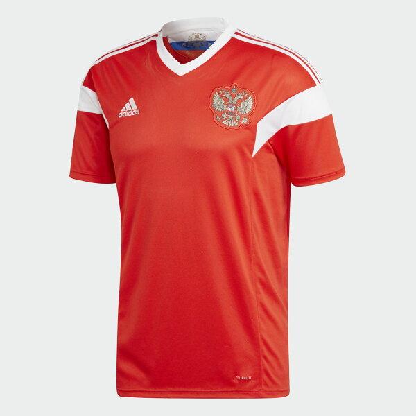 ADIDASRUSSIAHOMEREPLICA男裝上衣短袖世足賽世界盃俄羅斯紅白【運動世界】BR9055