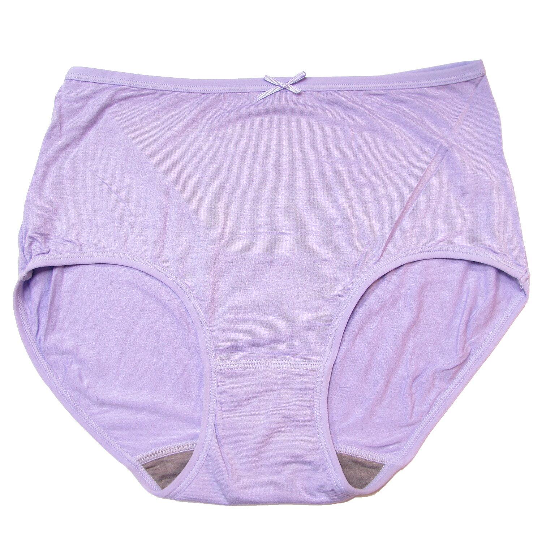 3件199免運【夢蒂兒】素色竹炭高腰三角褲3件組(隨機色)XL 1