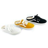 Shoestw【60222003-】KANGOL 懶人鞋 拖鞋 帆布鞋 休閒 三種顏色 女生款-鞋殿-潮流男裝