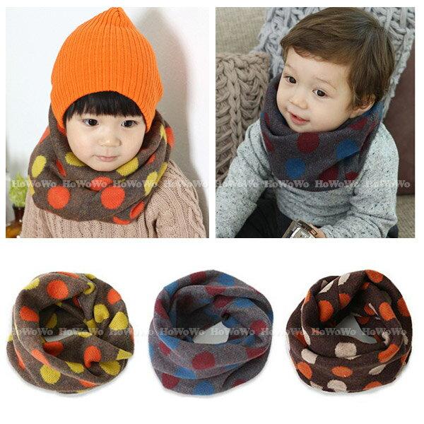寶寶圍巾 圓點毛線針織圍脖 (2-6歲) BU01118