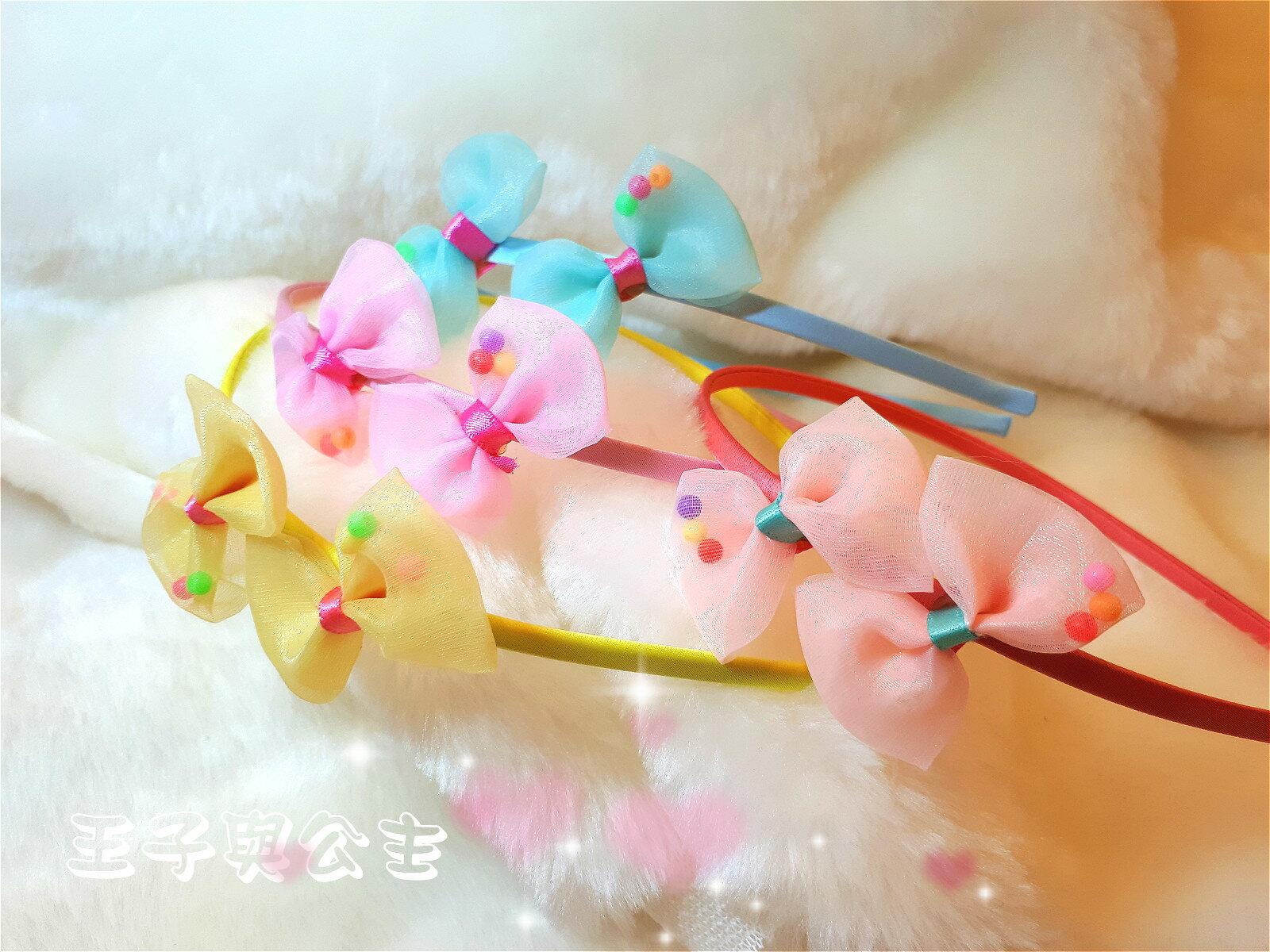 透明雙蝴蝶結髮箍AA004 ~~~~~ 日韓 髮飾 髮帶 髮圈  蕾絲 布藝  兒童 少女