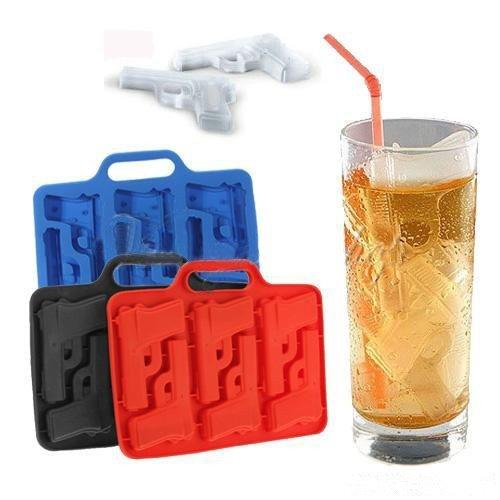 =優生活=『夏日冰品祭』創意食用級矽膠冰格手槍造型 冰塊模 夏季熱銷製冰盒 果凍模 巧克力模 肥皂模