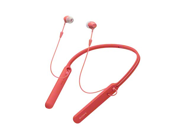 【金曲音響】Sony-C400 藍芽無線耳道式耳機 多色可選 [紅]