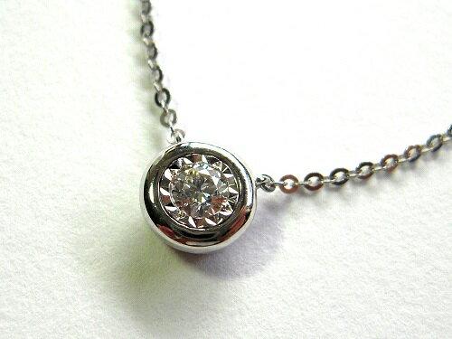 南非天然鑽石鍊墜 (鑽石0.10克拉) 義大利包鑲圓融典雅,讓鑽石更加閃耀亮麗【名朵珠寶 Vjade Jewelry 】