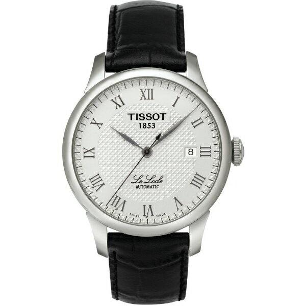 TISSOT天梭T41142333 力洛克經典羅馬機械腕錶/白面39.3mm