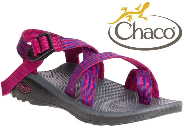 Chaco 越野紓壓運動涼鞋/水陸鞋/綁帶涼鞋-夾腳款 女 美國佳扣 CH-ZLW02 HD36 野果豔紅
