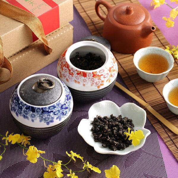 【茶鼎天】青花瓷鐵繡釉茶罐-台灣高山茶禮盒(100gx2罐)給最有品味的您!★ 2