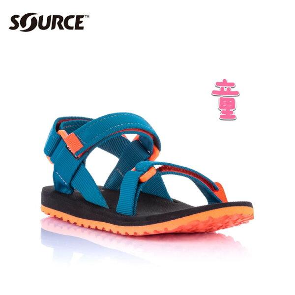 SOURCE兒童URBAN織帶涼鞋101093OS【海洋藍】城市綠洲(織帶、輕量、快乾、抑菌)