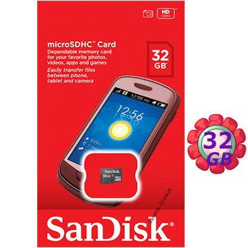 原廠包裝 SanDisk 32GB 32G microSDHC【C4】microSD micro SDHC 記憶卡 手機記憶卡