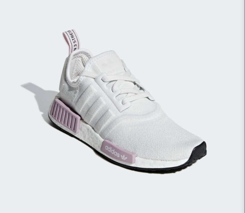 【ADIDAS】NMD_R1 白紫 經典鞋 休閒鞋  慢跑鞋 女 訂價5290 BD8024 (Palace store) 2