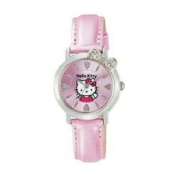 大賀屋 hello kitty 手錶 大臉 水鑽 錶 桃紅色 錶帶 凱蒂貓 三麗鷗 KT 日貨 正版 J00010431