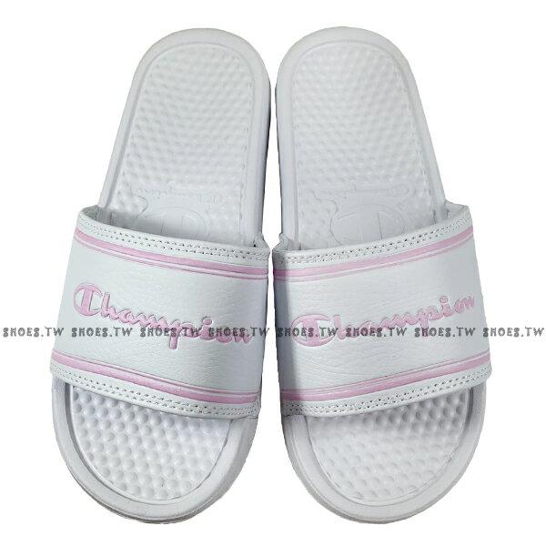 Shoestw【923250206】CHAMPION 拖鞋 運動拖鞋 白粉方框 女生尺寸 1