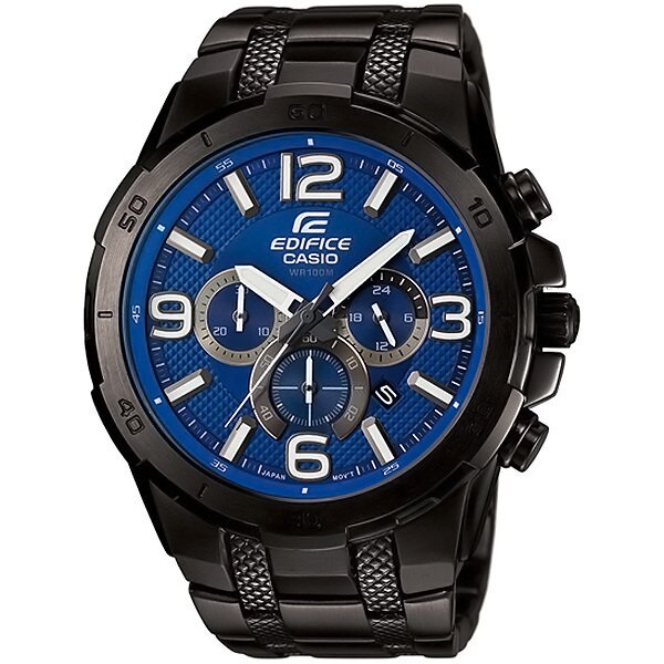 CASIO EDIFICE EFR-538BK-2A極惡荒地時尚流行腕錶/藍面49mm