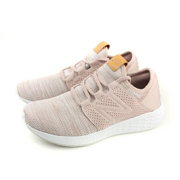NEWBALANCE運動鞋跑鞋網布女鞋粉紅色窄楦WCRUZKC2-Bno450