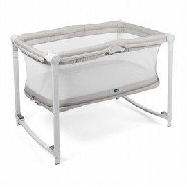 【淘氣寶寶】義大利ChiccoZip&Go可攜式兩段嬰兒搖床(奶油灰)【高透氣!空氣導流床墊】