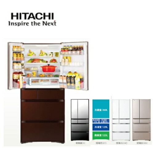 日本製造【日立HITACHI】日本冰箱六門676L琉璃四色《RG680J》全新原廠保固
