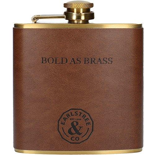 《CreativeTops》Earlstree銅色皮革隨行酒瓶(200ml)