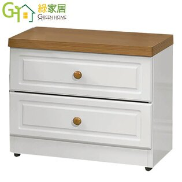 【綠家居】羅比鄉村白1.7尺床頭櫃收納櫃