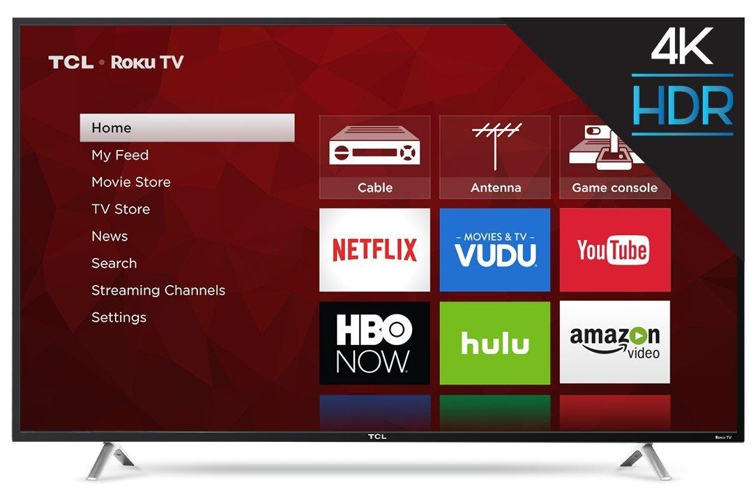 TCL 55S405 55-Inch 4K Ultra HD Roku Smart LED TV (2017 Model) 0