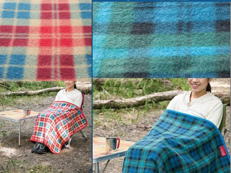 ├登山樂┤美國 Coleman 刷毛毯 (綠格紋+紅格紋) 抱枕毯 車用毯 # 一次購足兩色