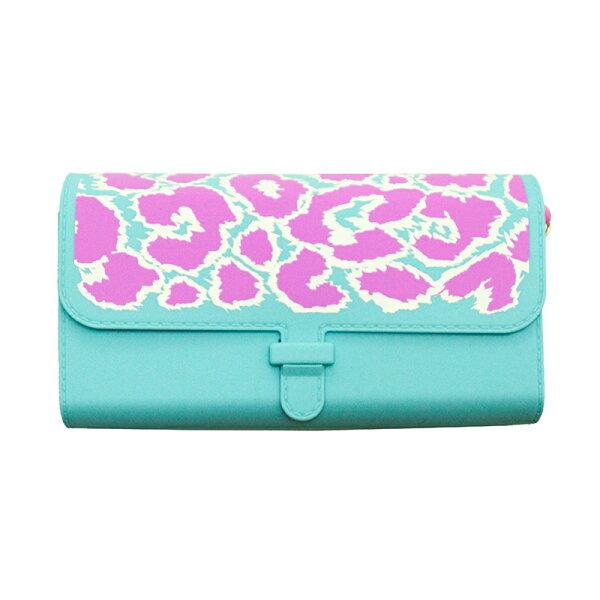 【Candies】粉紅豹紋圓桶側背包