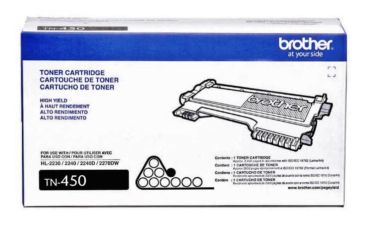 Brother TN450 High Yield Black Toner Cartridge (GENUINE)