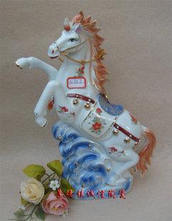 景德鎮瓷器工藝品 十二生肖 戰馬 藝術陶瓷 擺設裝飾 饋贈送禮
