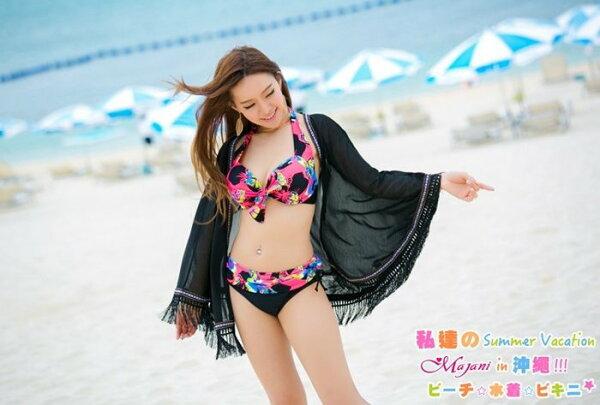 [瑪嘉妮Majani]中大尺碼 泳衣泳裝配件-大尺碼 超顯瘦 比基尼外罩衫 特價 388 bs-189