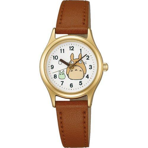【真愛日本】16051100068皮帶咖圓型金錶-3龍貓  龍貓 TOTORO 豆豆龍 仿皮手錶 時尚錶 圓錶