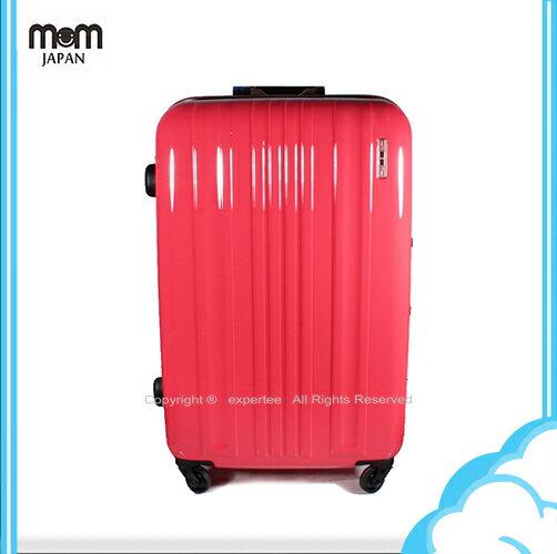 【騷包館】MOM JAPAN 日本品牌 28吋 亮彩系列 鋁框鏡面海關鎖旅行箱 螢光桃紅鑲金框MF6008-28-PK