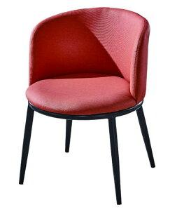 尚品傢俱:【尚品傢俱】JF-486-1喬依斯鐵藝皮餐椅(橘色)