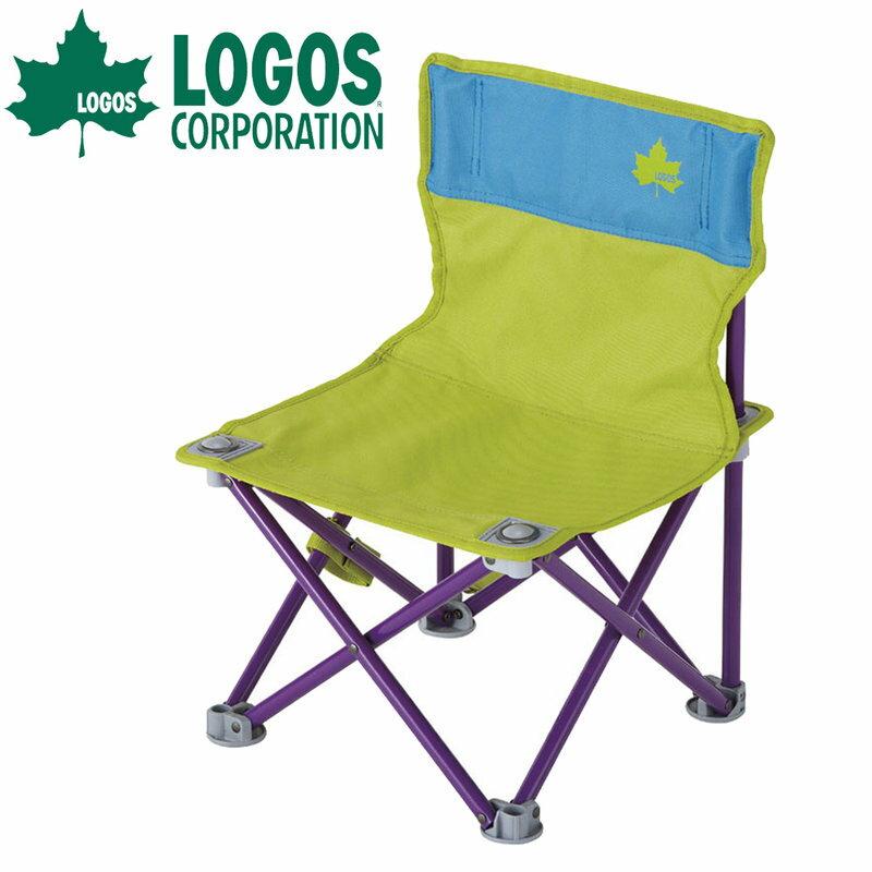 【露營趣】中和 附手電筒 LOGOS LG73170012 雙色野營椅 折疊椅 摺疊椅 休閒椅 露營椅 童軍椅