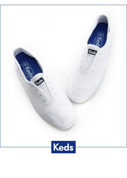 Keds 水洗樂活帆布鞋(白) 白鞋│套入式│懶人鞋│平底鞋 2