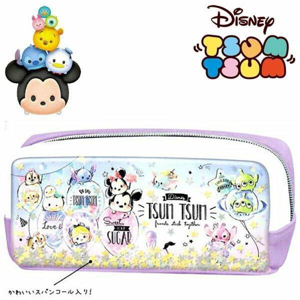 【迪士尼鉛筆袋Tsum】迪士尼 鉛筆盒 鉛筆袋 皮革 TSUM TSUM  該該貝比  ☆