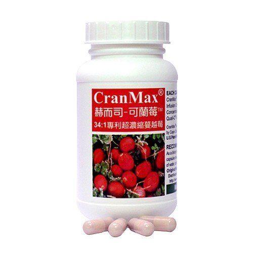 赫而司 可蘭莓 Cran~Max專利高濃縮蔓越莓膠囊 60顆  瓶◆德瑞健康家◆