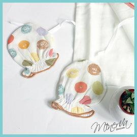 【淘氣寶寶】米諾娃 Minerva 繽紛紗布系列 初生護手套