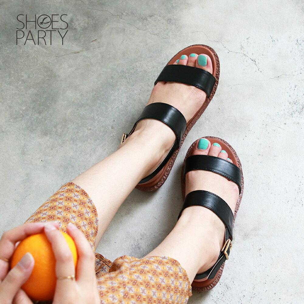 【S2-19627L】Simple+久走不累簡約輕便雙帶涼鞋_Shoes Party 2
